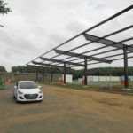 "14'-Clear-45""-wide-Cantilevered-Solar-Canopy-NJ-Dept.-of-Military-Affairs-Lawrenceville-NJ"