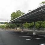 HDG Solar Canopy with Castellated Beam, 12 Clearance, NJ, Gloria Solar