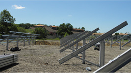 solar ground mount structures